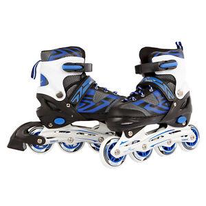 Kinder-Inlineskates-Inline-Skates-Inliner-blau-schwarz-verstellbar-Gr-39-42