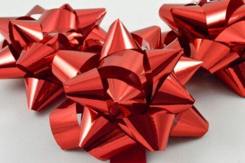 "2 x Self Adhésif Métallique Cadeau Noeuds 2.5/"" cadeau d/'anniversaire cadeau de Noël"