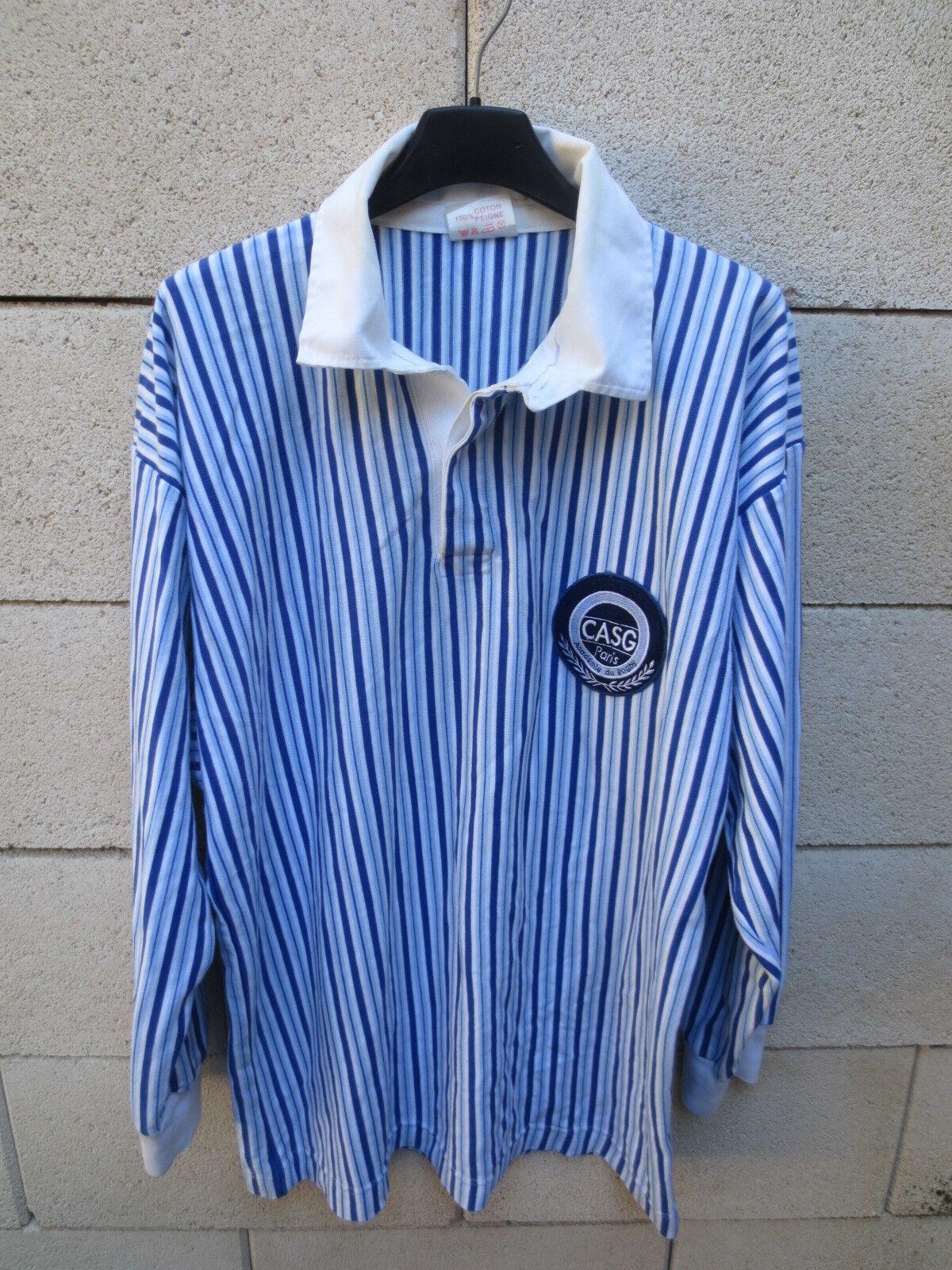 VINTAGE Maillot Maillot VINTAGE CASG PARIS Académie de RUGBY shirt coton jersey made in France 4 dcba46
