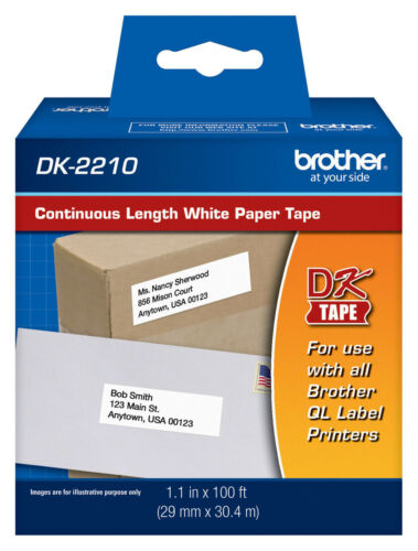 """QL-820NWB printers Brother DK2210 1-1//7/"""" Continuous Paper Tape for QL820NWB"""