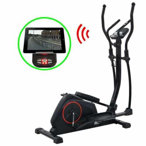 Fitness & Jogging vidaXL Crosstrainer 18kg Drehmasse Smartphone App Ellipsentrainer Heimtrainer