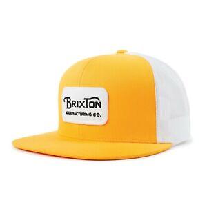 BRIXTON-GRADE-MESH-SNAPBACK-CAP-NUGGET-GOLD