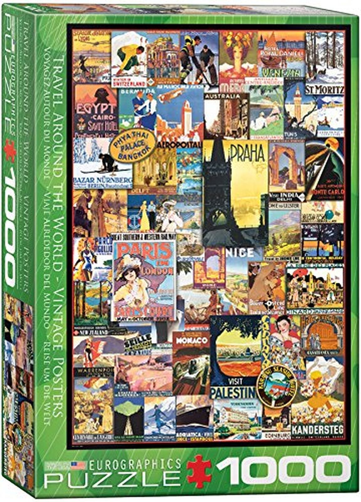 Eurographics 6000-0755  Travel The World Vintage Ads Puzzle (1000-Piece)