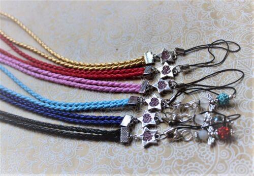 Umhängeband Handyschlaufe Handyband Strass Stern Handyanhänger Halsband