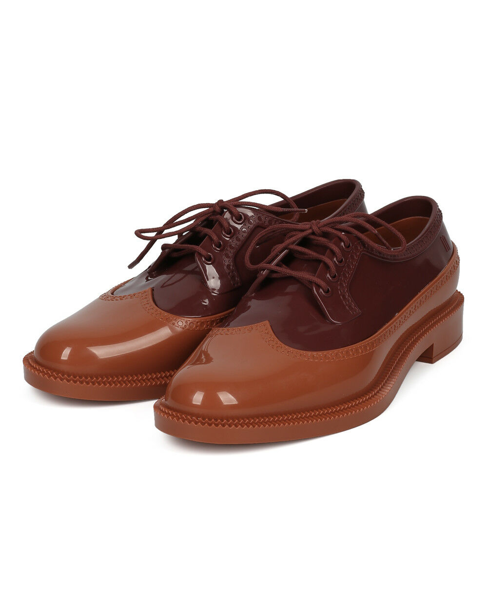 New Damens Melissa Classic Brogue Loafer PVC Lace Up Spectator Loafer Brogue 2349fd