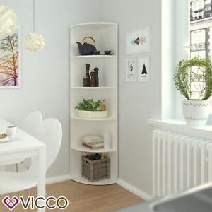 VICCO-Eckregal-ECKI-180-x-40-cm-Weiss-Kuechenregal-Badregal-Winkelregal-Regal