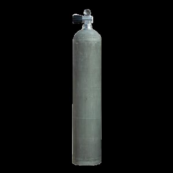PreisHammer by ATLANTIS - Sidemount  Aluflasche mit Ventil 12144RE - natur - 7 L