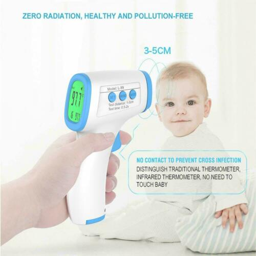LCD Digital Infrared Thermometer Non-contact Forehead Ear Body Temperature FDA