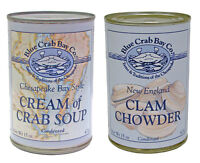 Blue Crab Bay Co 6 X She Crab, Cream Of Crab, England Clam Chowder Soup