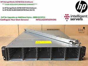 HP-Storageworks-D2700-arreglo-de-discos-25x-2-5-034-compartimientos-de-unidades-AJ941A-con-kit-de