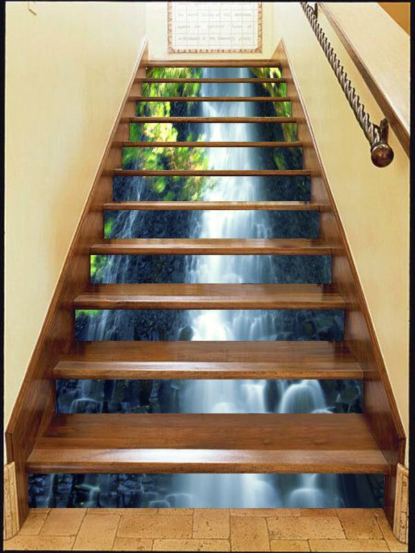 3D Feder Strom 342 Stair Risers Dekoration Fototapete Vinyl Aufkleber Tapete DE