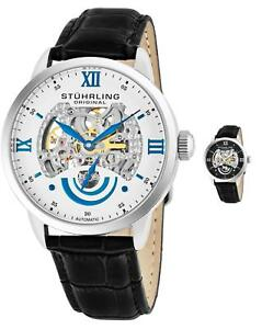 Stuhrling Men's 574 Executive Automatic Self-Wind Parisian Design Dial Watch