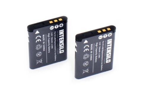 Sanyo DB-L80 Toshiba PX1686 2x BATERIA INTENSILO 700mAh PARA Pentax D-Li88
