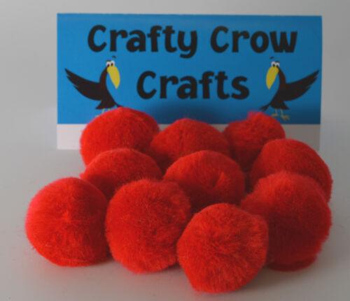 25 X 35mm Rojo Brillante Pompones