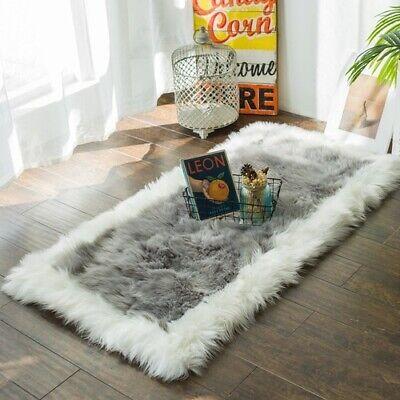 Faux Fur Living Room Carpets Plush Area Shaggy Rugs Carpet Room Thick Floor Ebay
