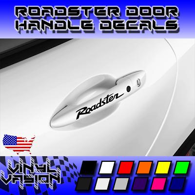 4x Mazda Roadster Door Handle Decal Sticker Miata MX-5 Sport Club Grand Touring
