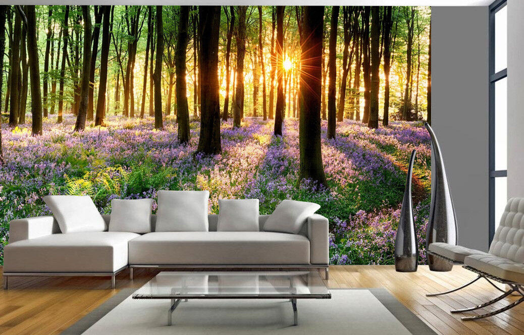 Tree Plant Flowers Wall Mural Forest Photo Picture