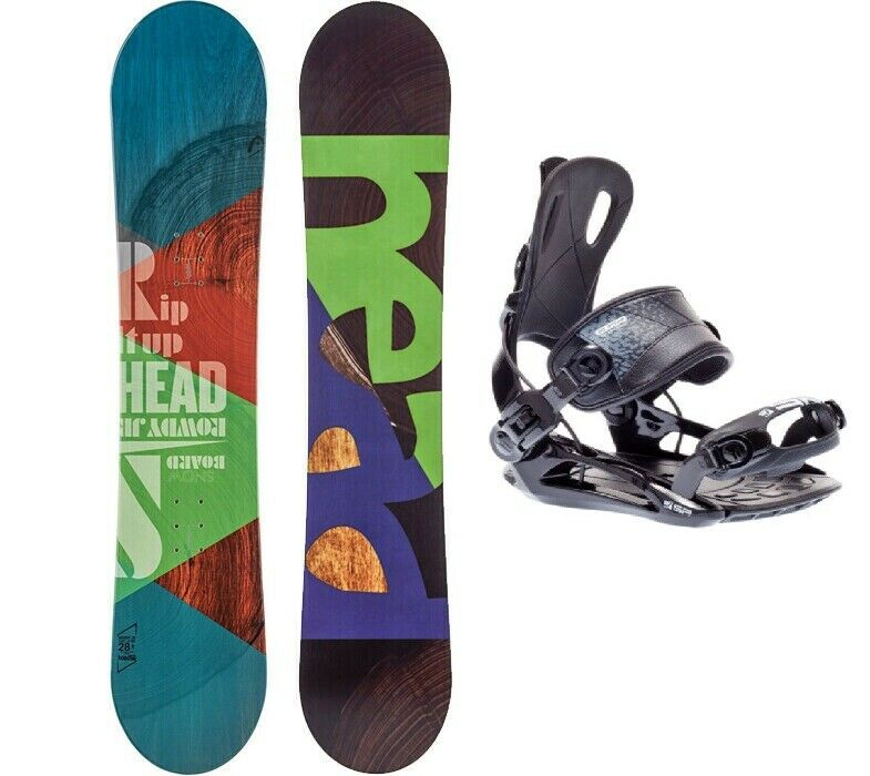 HEAD Rowdy JR 118 Snowboard Set mit SP Fastec Step-In Bindung Anfänger Kinder