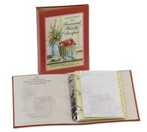 Treasured Family Recipe Organizer, New, from Meadowsweet Kitchens