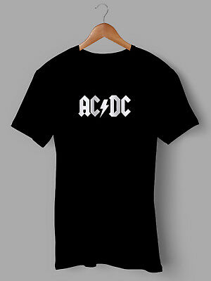 Ac/dc Acdc Logo T-shirt Top Heavy Metal Band Music Gift Printed Festival