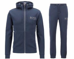 2d88d8af8 Hugo Boss Green Saggy Hadiko 50399379 410 Hooded Mens Tracksuit Blue ...