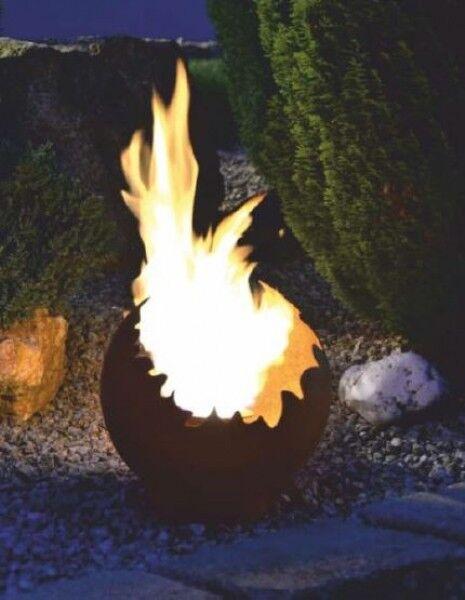 Edelrost Deko- und Feuerkugel Ø 30 cm, Metall Garten Rost Bepflanzen Beleuchten | Verwendet in der Haltbarkeit
