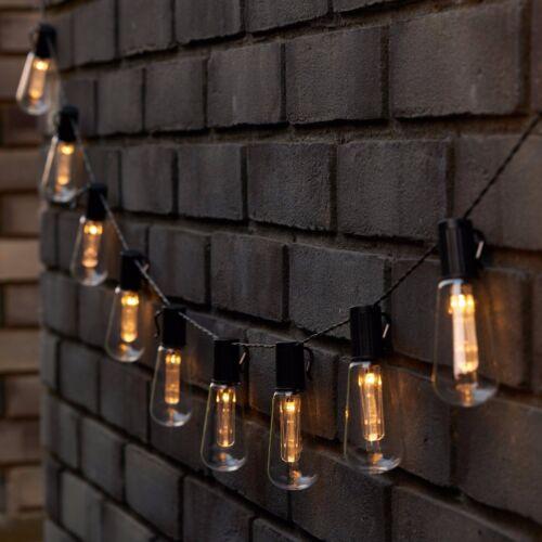 10x Retro Edison Bulb Solar Power Garden Lights Hanging LED String Lights 3.5m