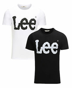 Lee-New-Mens-Printed-Slim-Cotton-Logo-T-Shirt-Branded-Print-Top-S-M-L-XL-XXL