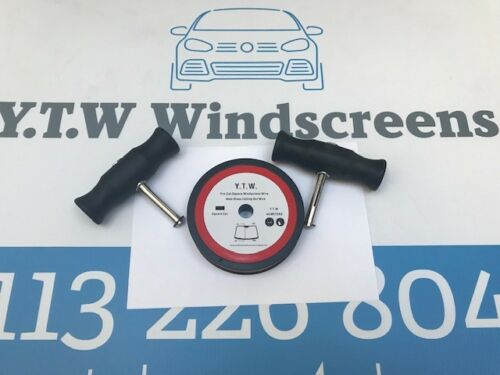 + HANDLES **WOW PRO CUT SQUARE 0.6mm x 44M WINDSCREEN REMOVAL CUTTING WIRE