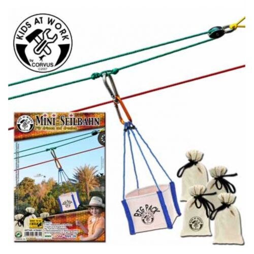 Mini-Seilbahn Kinder Spielzeug Kinderwerkzeug Corvus