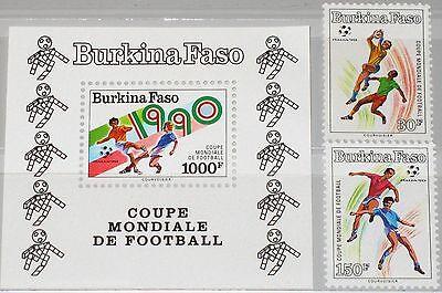 Burkina Faso Afrika Burkina Faso 1990 1226-27 Block 133 Soccer World Cup Italy Fußball Wm Sport Mnh SchöNe Lustre