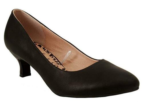 Womens Comfort Plus Texas Black Work Party Court Office Christmas Shoes UK 3-8
