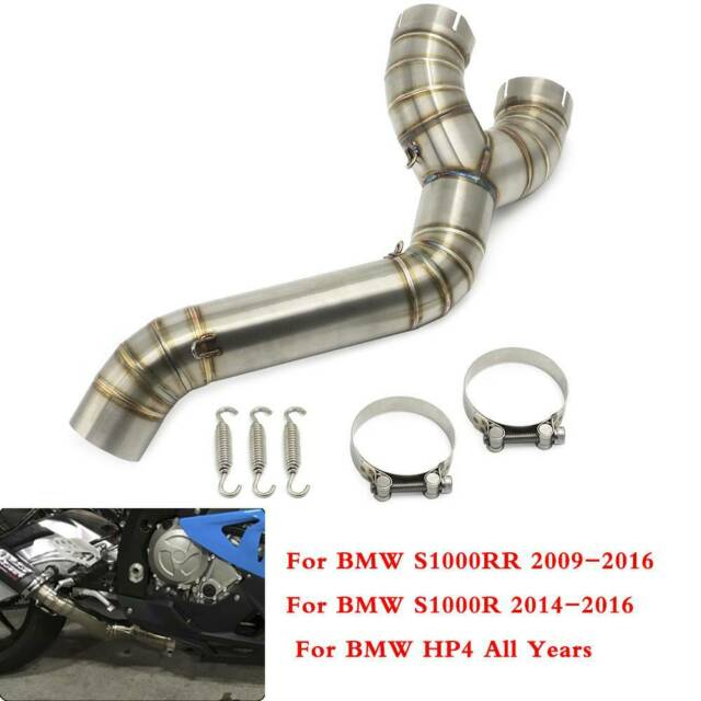 BMW S1000RR 2010-2014 350mm OVAL CARBON BSAU SILENCER EXHAUST KIT