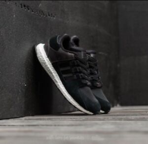 meet e8b09 f87cf Image is loading Adidas-EQT-Support-Ultra-Boost-Black-White-Shoes-
