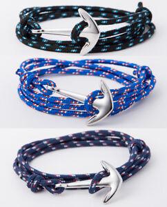 Bracelet-Tendance-Ancre-Marine-Pour-Homme-Femme-Garcon-Fille-Ado-hope-gourmette