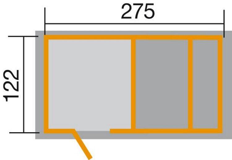 Weka Spielplatz Spielplatz Spielplatz natur 274 x 122cm a50f46
