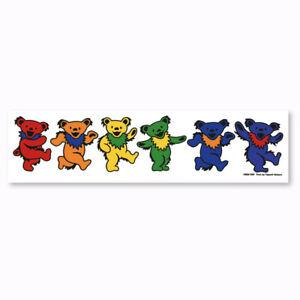 A455 Grateful Dead Rainbow Dancing Bears Art Decal Window