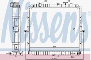 Nissens 68002 A radiateur de refroidissement du moteur Homme
