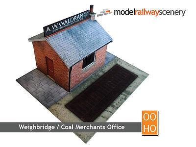 COAL OFFICE AND WEIGHBRIDGE CARD KIT FOR OO GAUGE MODEL RAILWAY HORNBY