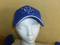 York Yankee Cap Hat Pin Stripe Baseball Cap Hat Adjustable