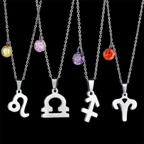 Aries Star Sign Necklace Zodiac Constellation Carnelian Birthstone Free Gift BOX