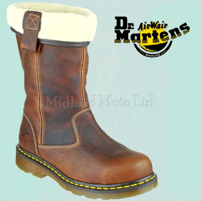 3330570bfbe Dr Martens Steel Toe cap Ladies Rosa ST Rigger Safety Boot 6807 DM