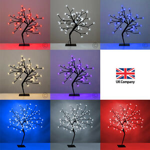Modern led cherry blossom bonsai tree fairy twig lights for Cherry tree floor lamp