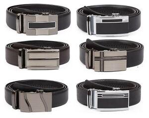 Veronz Men's Elegant Wide Leather Slide Belt Ratchet Belt ...