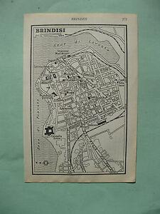 Brindisi Cartina Geografica.Stampa Antica Old Print Map Mappa Puglia Brindisi 1 Meta 900 Da Guida Inglese Ebay