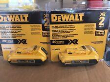 New Factory Sealed DEWALT DCB203-2 20-Volt 2.0Ah Li-Ion Battery (2 pk) Packing