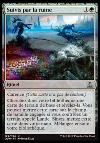 ▼▲▼2x Suivis par la ruine Ruin in Their Wake OGW #122 FRENCH  Magic