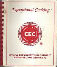 METRO DETROIT MI VINTAGE COOK BOOK *FRIENDS OF EXCEPTIONAL CHILDREN *MICHIGAN