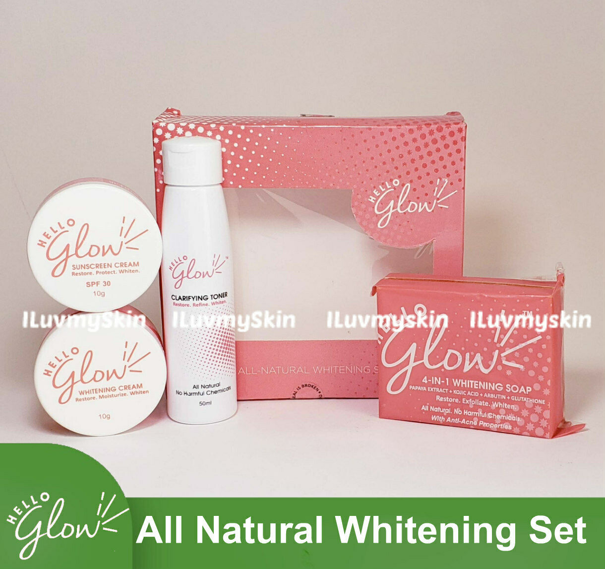 Hello Glow All Natural Whitening Set by Ever Bilena 2