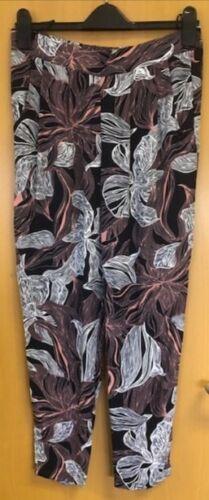 BON MARCHE Imprimé Floral Pantalon Taille 12